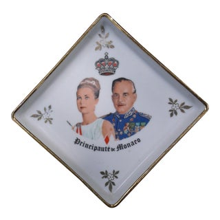 Princess Grace & Prince Rainier of Monaco Porcelain Ashtray, 1960's For Sale