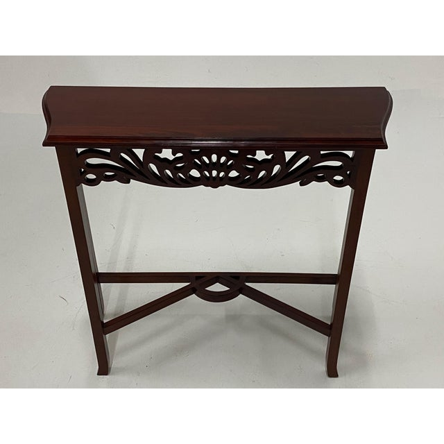 Carved Mahognay Console Table For Sale - Image 12 of 12