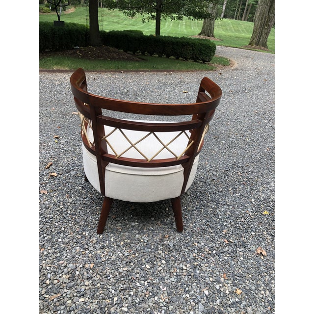 Milo Baughman Pair of Milo Baughman (Attributed) Barrel Back Chairs For Sale - Image 4 of 7