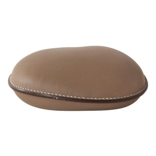 Hermès Taupe Leather Paperweight For Sale