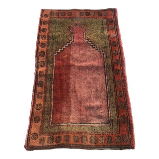 """Hand Made Vintage Small Turkish Runner- 2'1"""" X 4'5"""" For Sale"""