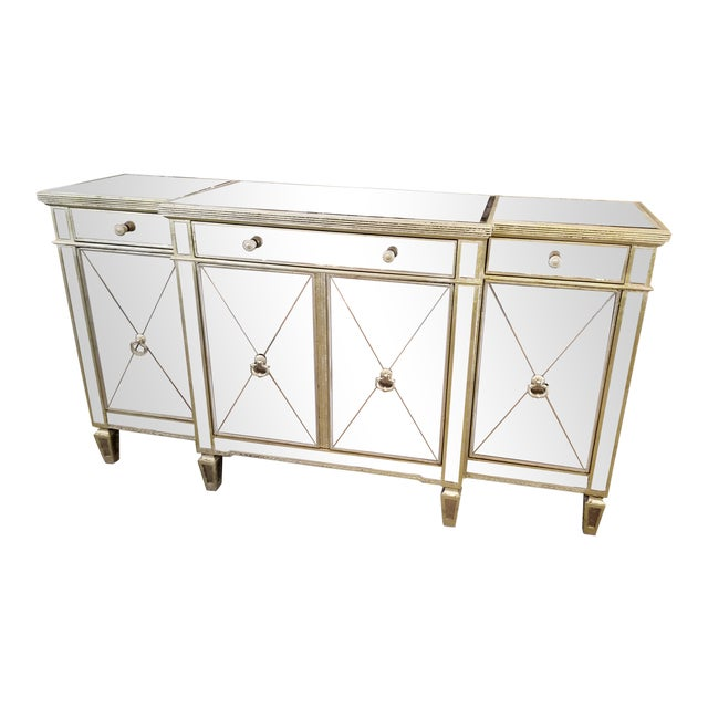 Z-Gallerie Borghese Mirrored Buffet For Sale