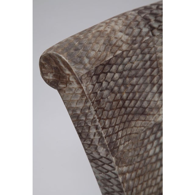 Fishskin Covered Chairs - a Pair For Sale - Image 9 of 10