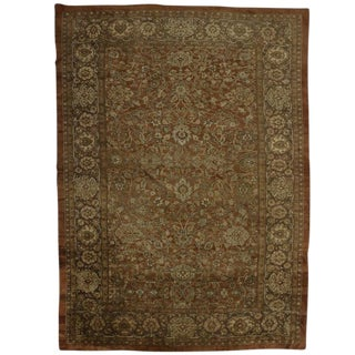 1930s Vintage Persian Sultanabad Rug - 11′9″ × 16′1″ For Sale