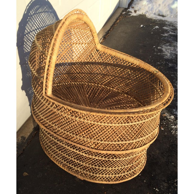 Bohemian Wicker Bassinet For Sale - Image 11 of 11