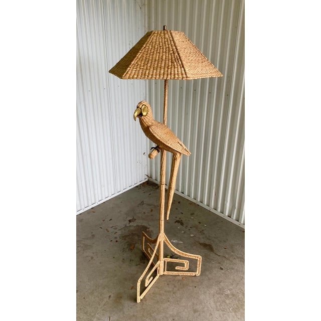 Sand Vintage Mario Lopez Torres Parrot Floor Lamp For Sale - Image 8 of 9