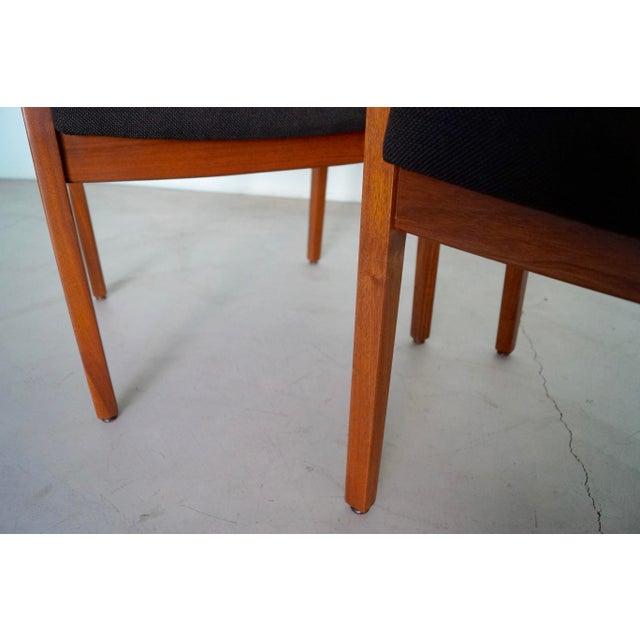 Gunlocke Mid-Century Modern Walnut Armchairs - A Pair For Sale - Image 9 of 13