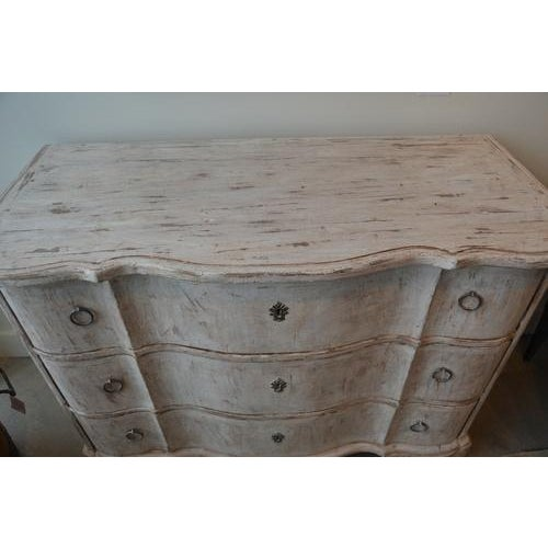 Italian White Painted Three Drawer Chest For Sale - Image 9 of 12