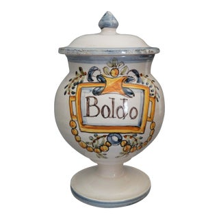 Vintage Italian Footed Apothecary Jar