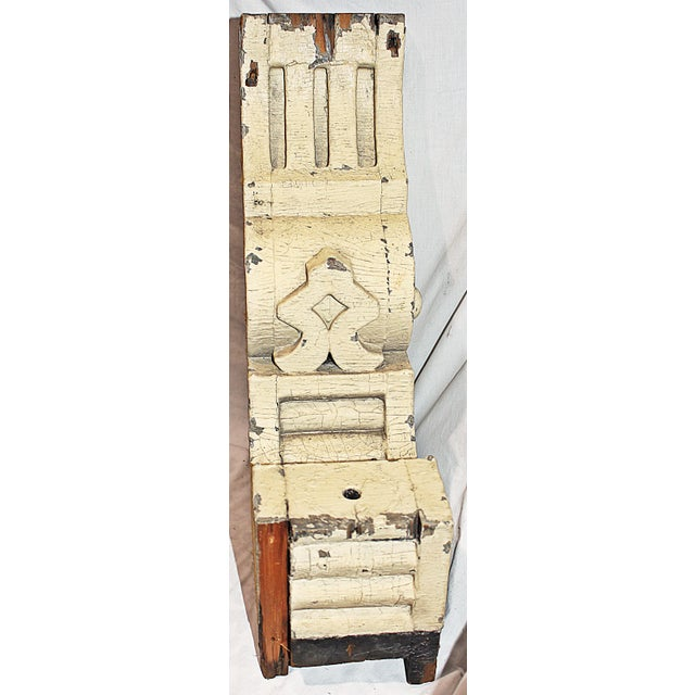 Antique White Wood American Corbel For Sale - Image 5 of 6