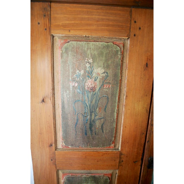 Rustic European Late 18th/Early 19th Century Antique Hand-Painted Armoire of European Origin For Sale - Image 3 of 9