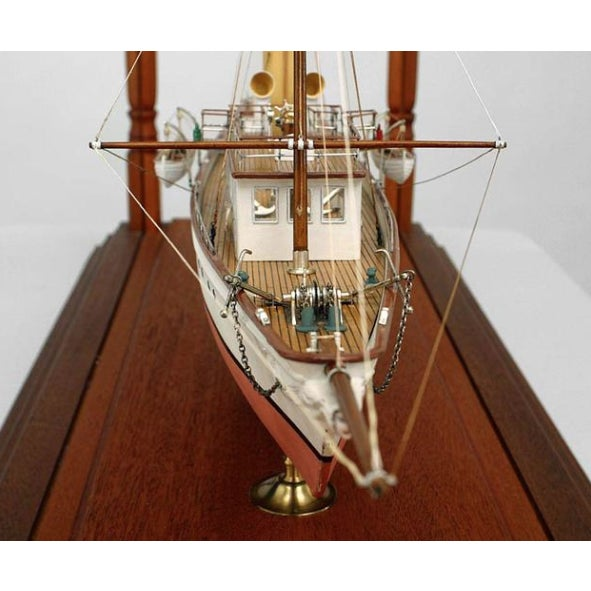 Mid-Century Modern 19th Century American Encased Ship Model, Lady of Torfrida For Sale - Image 3 of 5