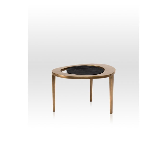 Not Yet Made - Made To Order Peacock Nesting Coffee Table in Cream Shagreen and Brass by R&y Augousti For Sale - Image 5 of 9
