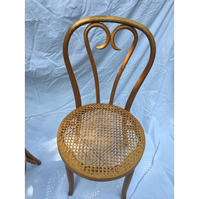Thonet 1900s Boho Chic Thonet Sweetheart Style Bistro Chairs - a Pair For Sale - Image 4 of 11