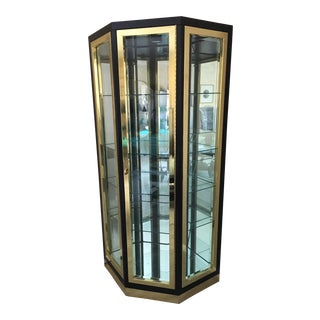 1980s Mastercraft Display Cabinet For Sale
