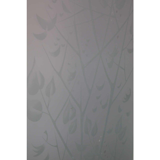 Glass Four-Panel Etched Glass Screen For Sale - Image 7 of 10