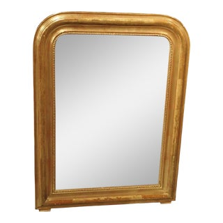 19th Century French Louis Philippe Giltwood Mirror For Sale