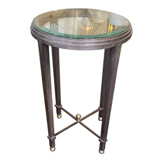Global Views Copper Finish Drinks Table For Sale
