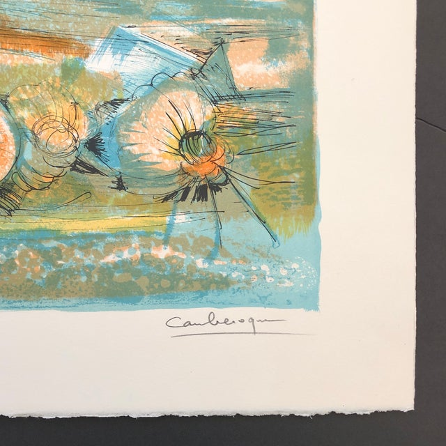 1960s Jean Camberoque French Beach Lithograph For Sale In Greenville, SC - Image 6 of 12