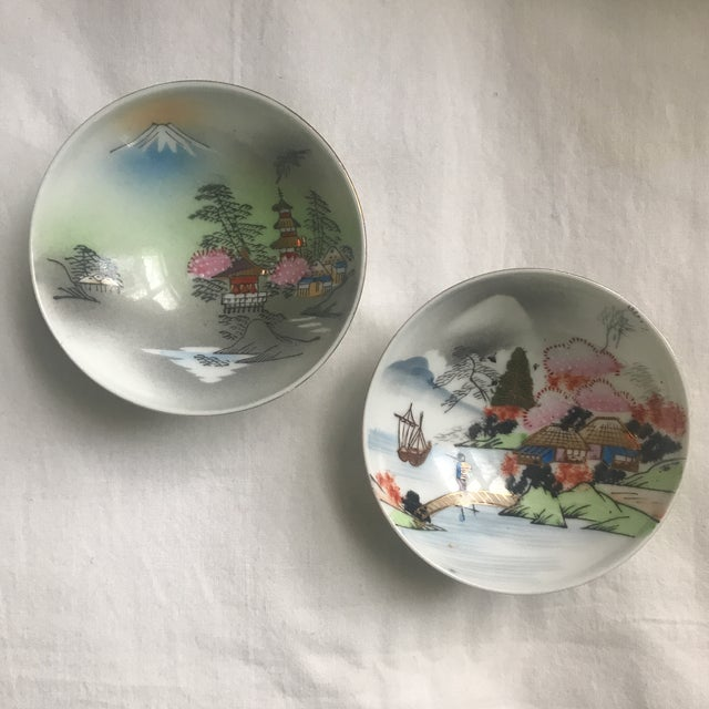 Mid-Century Japanese Gilded Porcelain Bowls - a Pair For Sale - Image 4 of 4