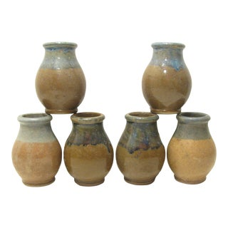 Vintage French Mustard Jar Collection - Set of 6