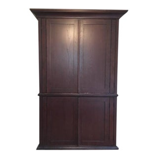 Pottery Barn Solid Wood Entertainment Cabinet For Sale