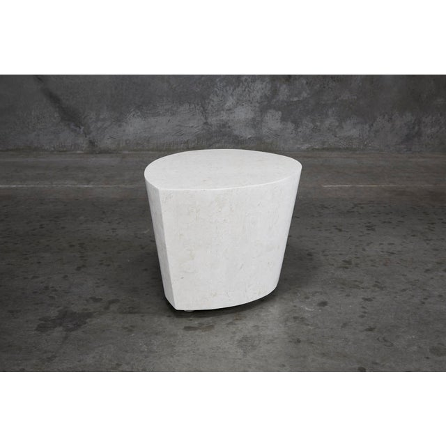 """1990s Contemporary White Freeform Tessellated Stone """"Hampton"""" Side Table For Sale - Image 11 of 13"""