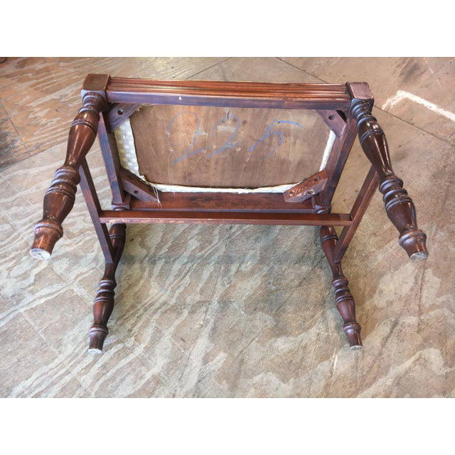 Antique Bedroom Vanity Bench - Image 6 of 9