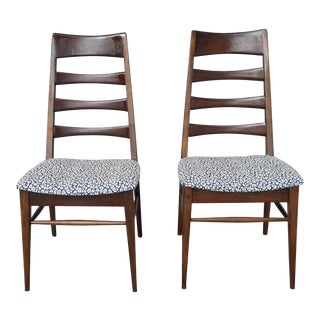 1940s Vintage Heywood Wakefield Ladder Dining Chairs- A Pair For Sale