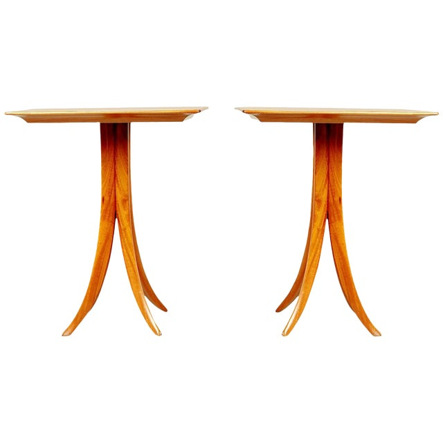 1955 Giuseppe Scapinelli Caviuna Wood Sculptural Side Tables, Brazil - a Pair For Sale