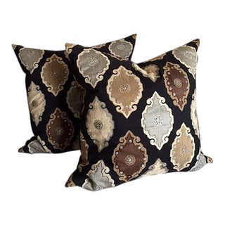 "Hand Crafted 22"" ""Diem Collection"" Moroccan Pillows - a Pair For Sale"