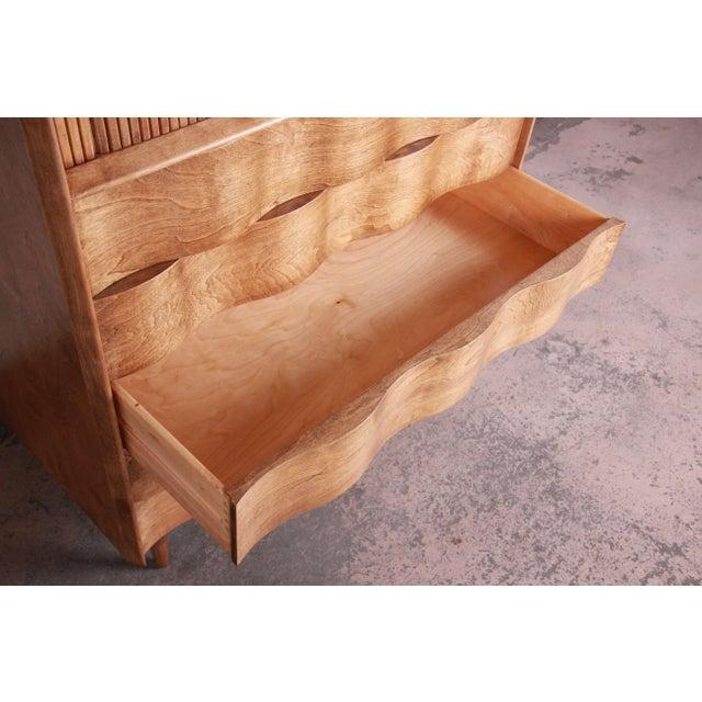 Edmond Spence Wave Front Highboy Dresser For Sale - Image 10 of 13