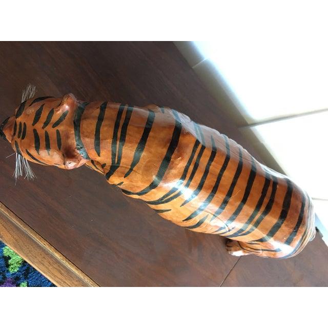 Vintage Leather Tiger For Sale In San Francisco - Image 6 of 8