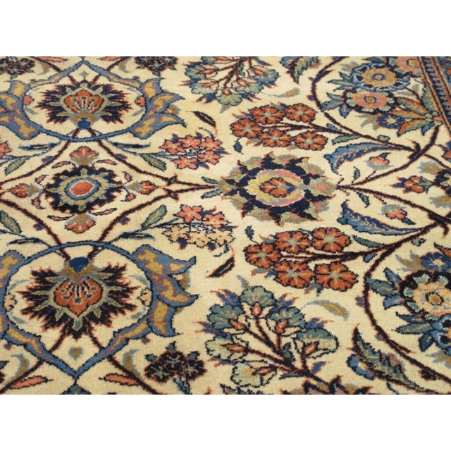 "Persian Kashan Rug 8'6"" x 11'10"" For Sale - Image 4 of 4"
