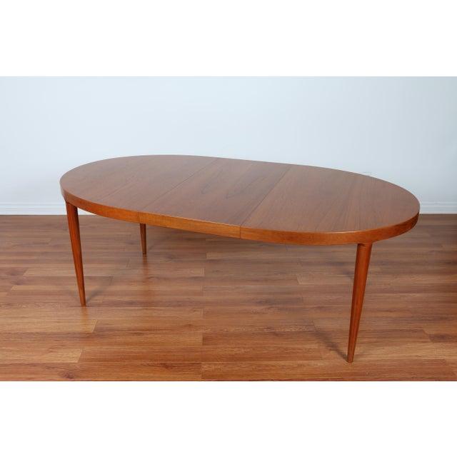 Skovmand & Anderson Danish Mid Century Teak Dining Table - Image 6 of 8