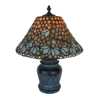 1980s Richard Hoosin Shell and Glass Table Lamp For Sale