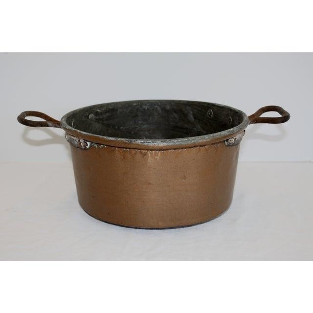 Vintage Rustic Copper Pot For Sale - Image 4 of 6