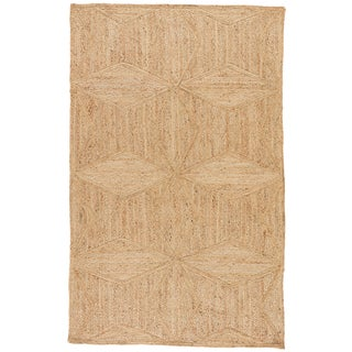 Jaipur Living Abel Natural Geometric Beige Area Rug - 10′ × 14′ For Sale