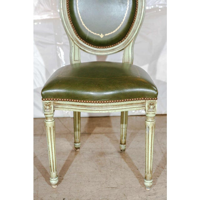 Set of Six French Louis XVI Dining Chairs For Sale - Image 4 of 11