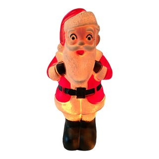 1950s Light Up Jolly Santa Claus For Sale