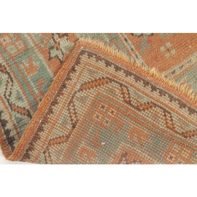 Textile Antique Turkish Oushak Rug For Sale - Image 7 of 9