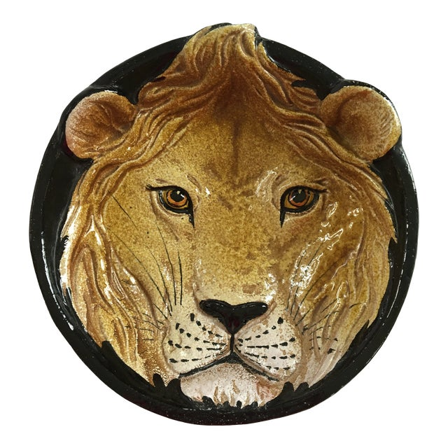 Mid-Century Italian Hollywood Regency Lion Decorative Bowl/Catchall For Sale