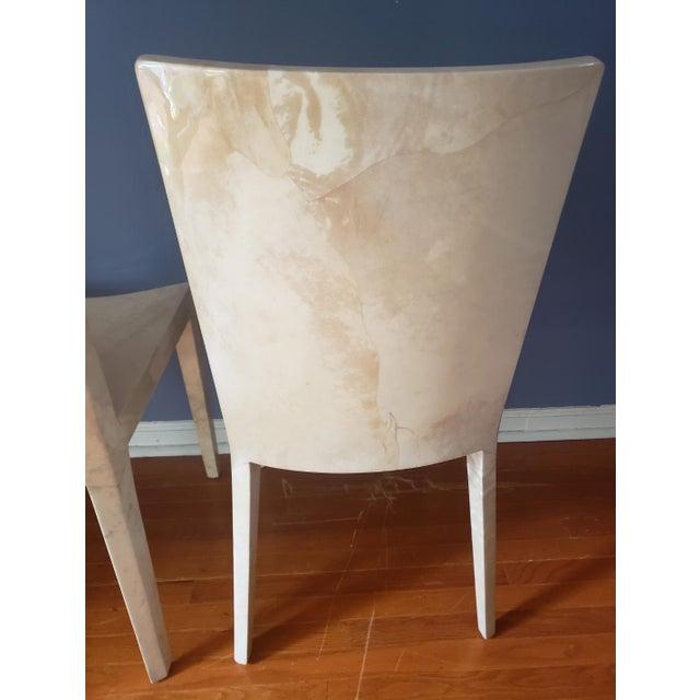 1980s Vintage Karl Springer Jmf Chairs- A Pair For Sale In Philadelphia - Image 6 of 13
