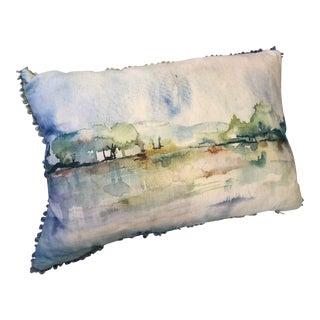 Lake Scene Bolster Pillow For Sale