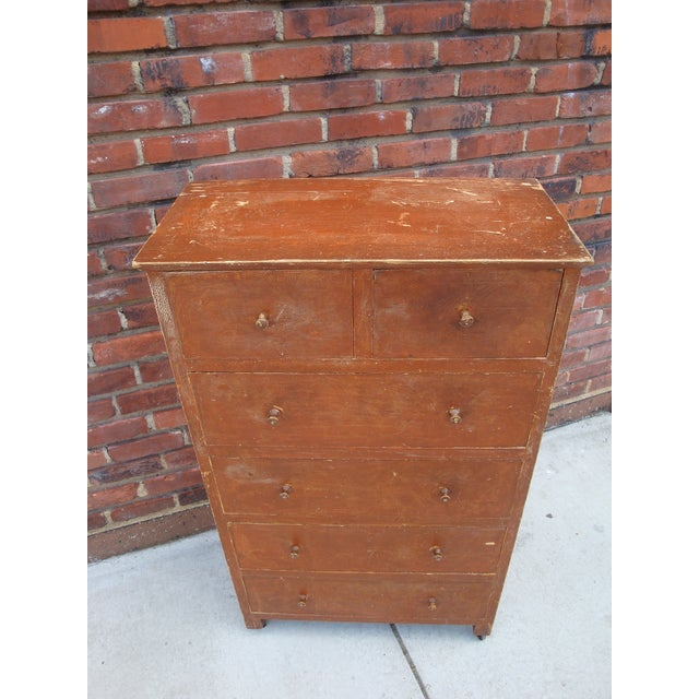 Early 20th Century Folk Art Grain Painted Chest of Drawers For Sale - Image 5 of 8