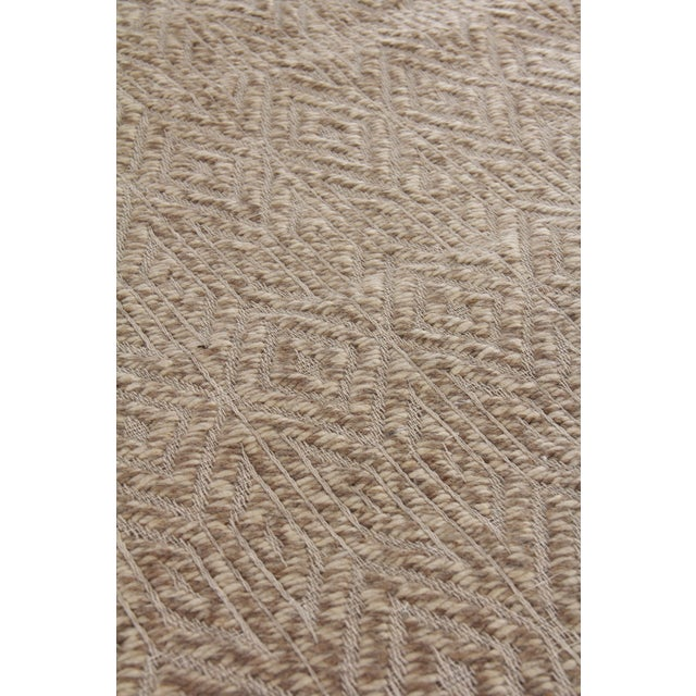 Transitional Sanz Flatweave Wool Beige Rug - 9'x12' For Sale - Image 3 of 6