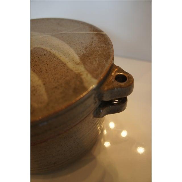 Mid Century Signed Studio Pottery Lidded Casserole Dish - Image 5 of 7