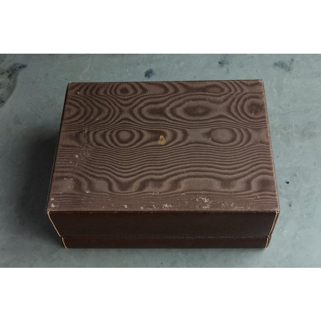 Brown Mark Cross Leather Brown Leather Jewelry Box From the Collection of Ann Turkel For Sale - Image 8 of 13