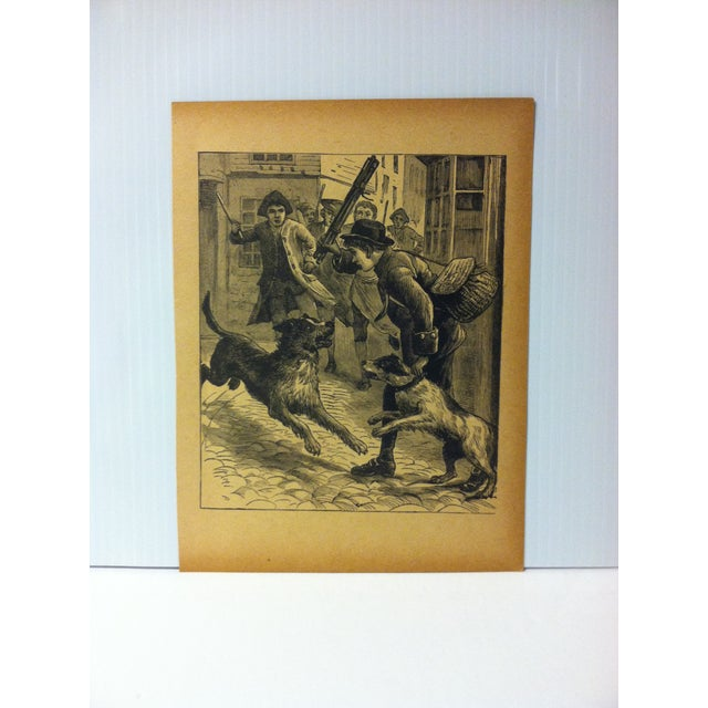 "Antique Grand Union Tea Company Print, ""A Little Hero"", 1913 For Sale - Image 4 of 4"