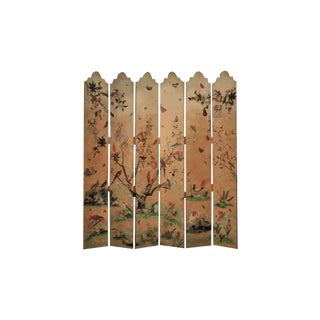 Theodore Alexander Flora & Fauna-Chinoiserie Six Panel Screen For Sale